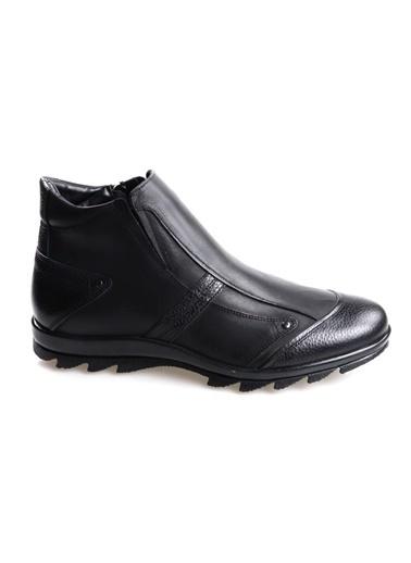 Fosco 3532 Siyah Erkek (40-45) Deri Bot Siyah
